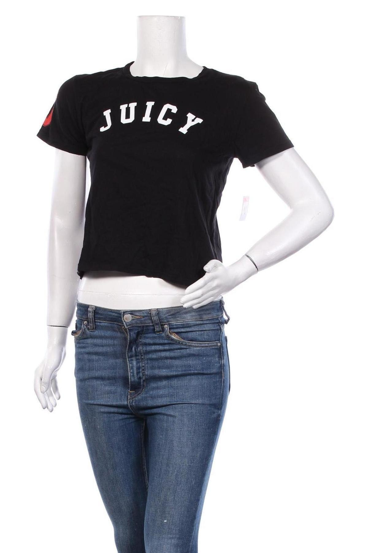 Дамска тениска Juicy Couture, Размер XXL, Цвят Черен, Памук, Цена 25,37лв.