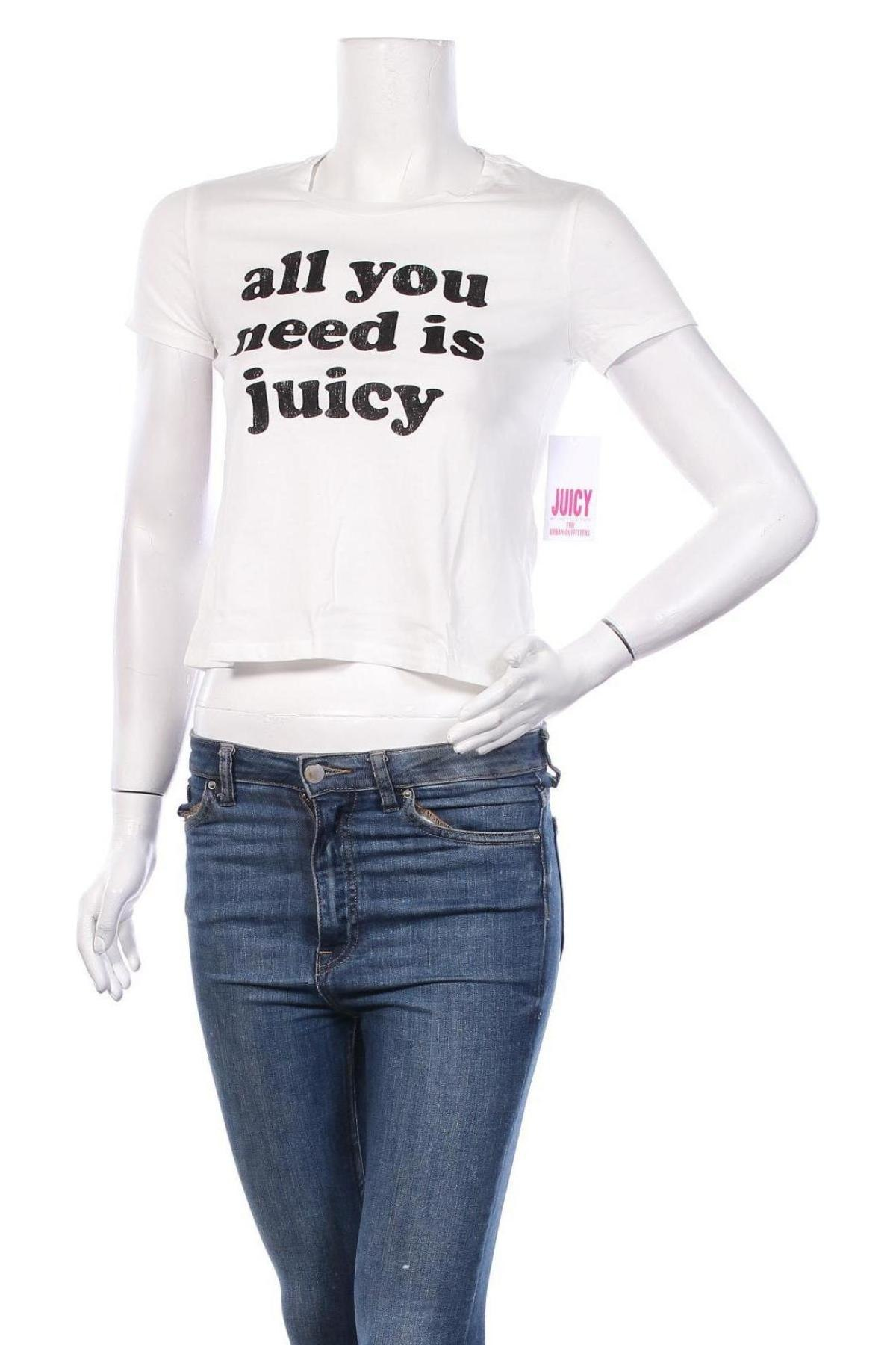 Дамска тениска Juicy Couture, Размер XS, Цвят Бял, 100% памук, Цена 37,12лв.