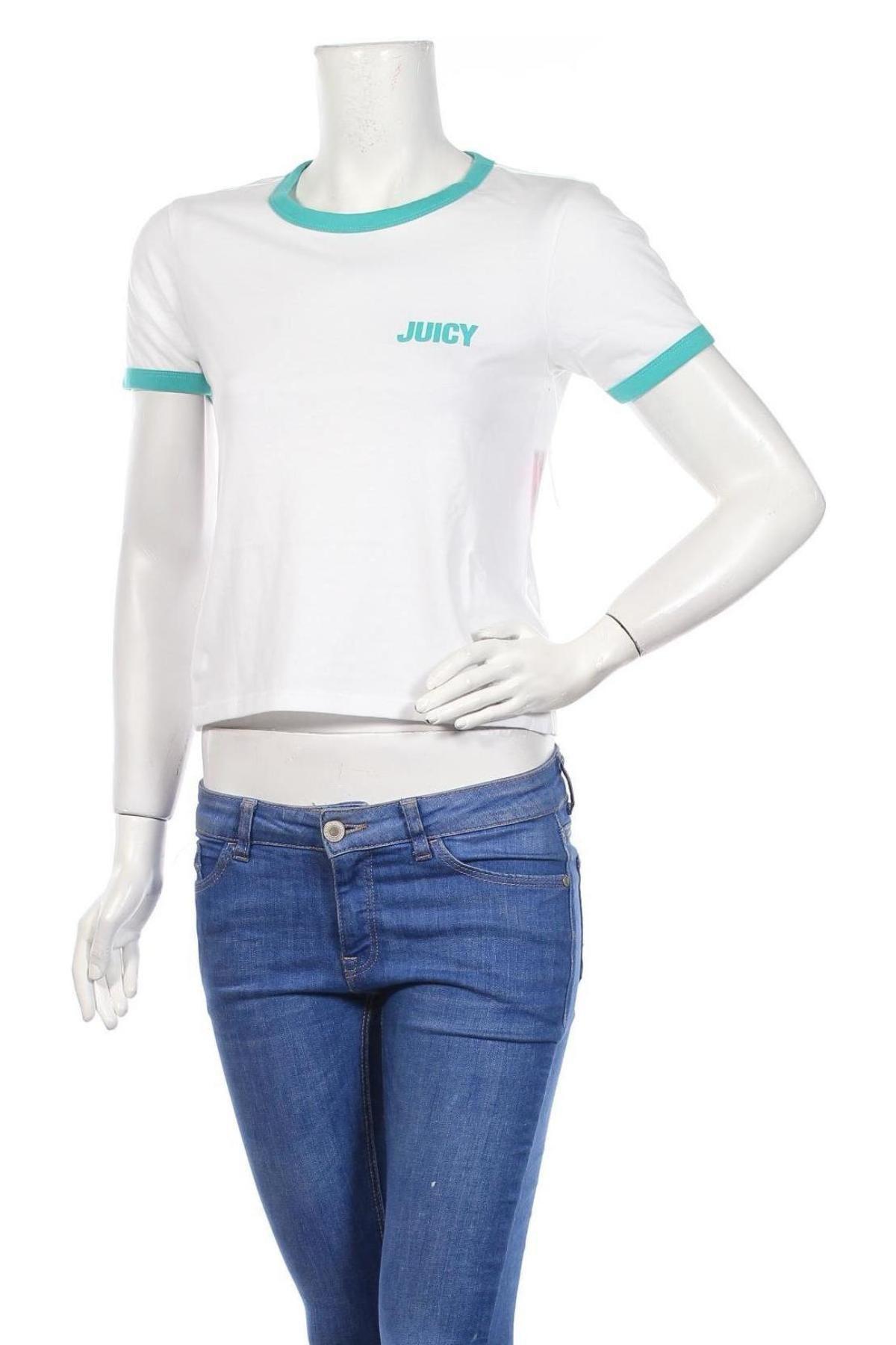 Дамска тениска Juicy Couture, Размер XS, Цвят Бял, 60% памук, 40% полиестер, Цена 31,90лв.