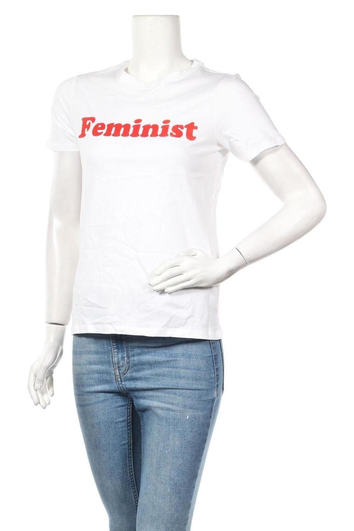 Дамска тениска Undiz, Размер S, Цвят Бял, Памук, Цена 26,52лв.