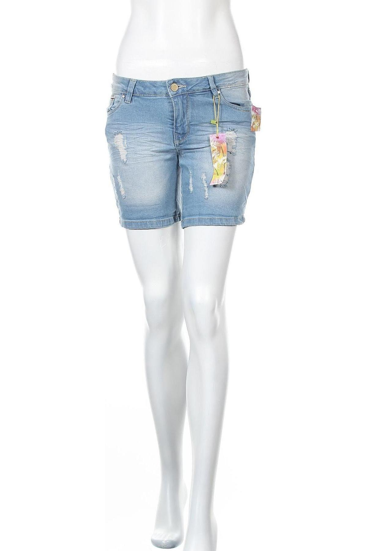 Γυναικείο κοντό παντελόνι Alcott, Μέγεθος XS, Χρώμα Μπλέ, 98% βαμβάκι, 2% ελαστάνη, Τιμή 14,69€