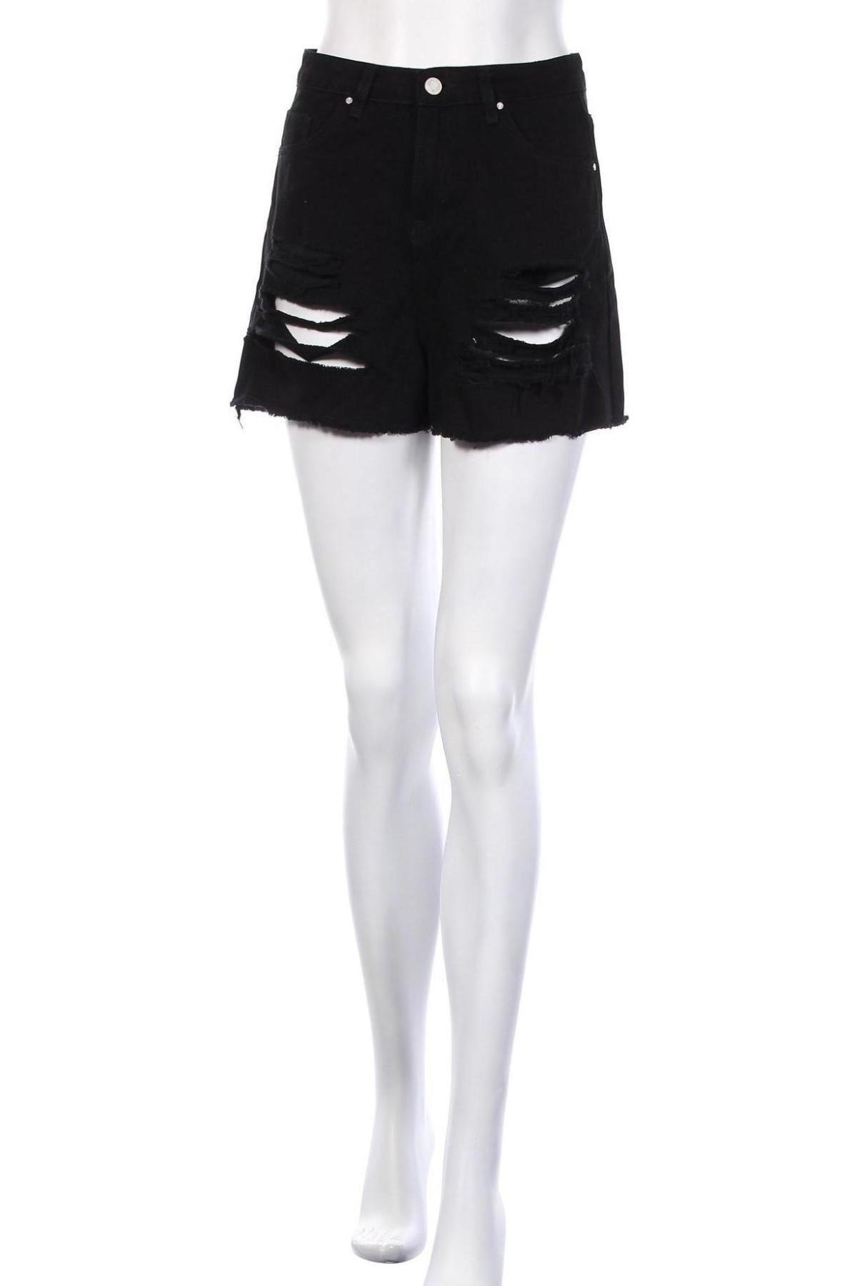 Γυναικείο κοντό παντελόνι Missguided, Μέγεθος S, Χρώμα Μαύρο, Βαμβάκι, Τιμή 15,41€