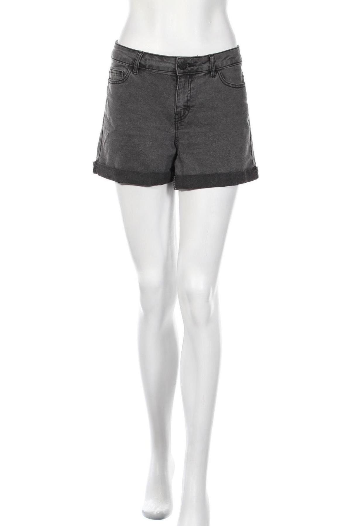 Γυναικείο κοντό παντελόνι Noisy May, Μέγεθος L, Χρώμα Γκρί, 79% βαμβάκι, 18% πολυεστέρας, 3% ελαστάνη, Τιμή 12,63€