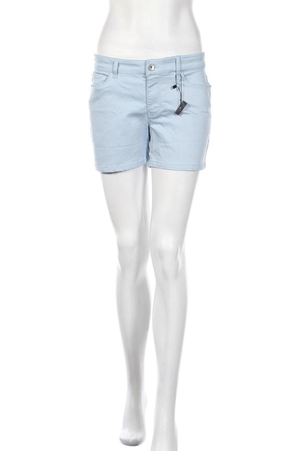Γυναικείο κοντό παντελόνι Vero Moda, Μέγεθος M, Χρώμα Μπλέ, 62% βαμβάκι, 36% πολυεστέρας, 2% ελαστάνη, Τιμή 13,04€