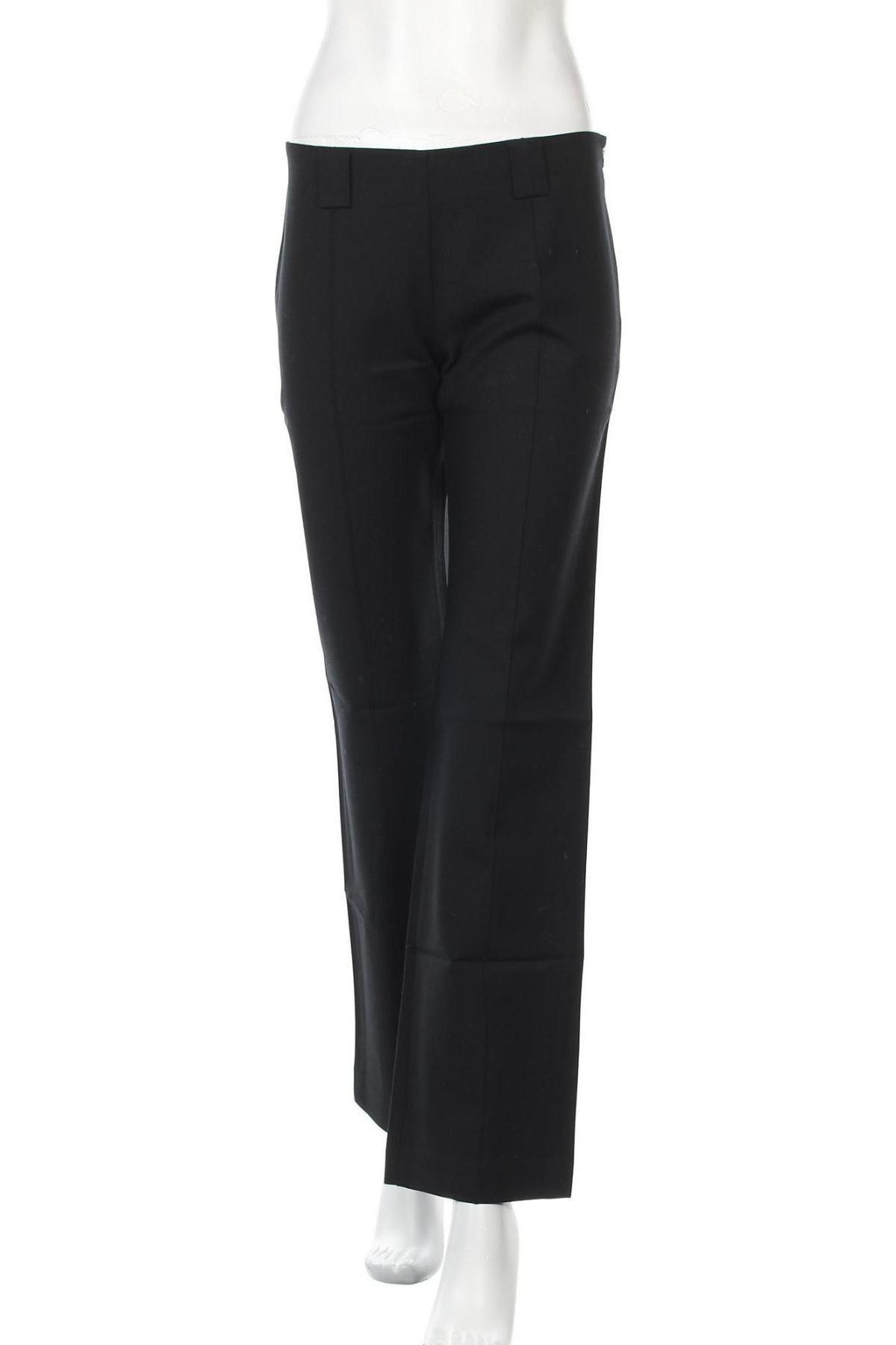 Дамски панталон Stefanel, Размер S, Цвят Черен, 93% памук, 7% еластан, Цена 27,51лв.