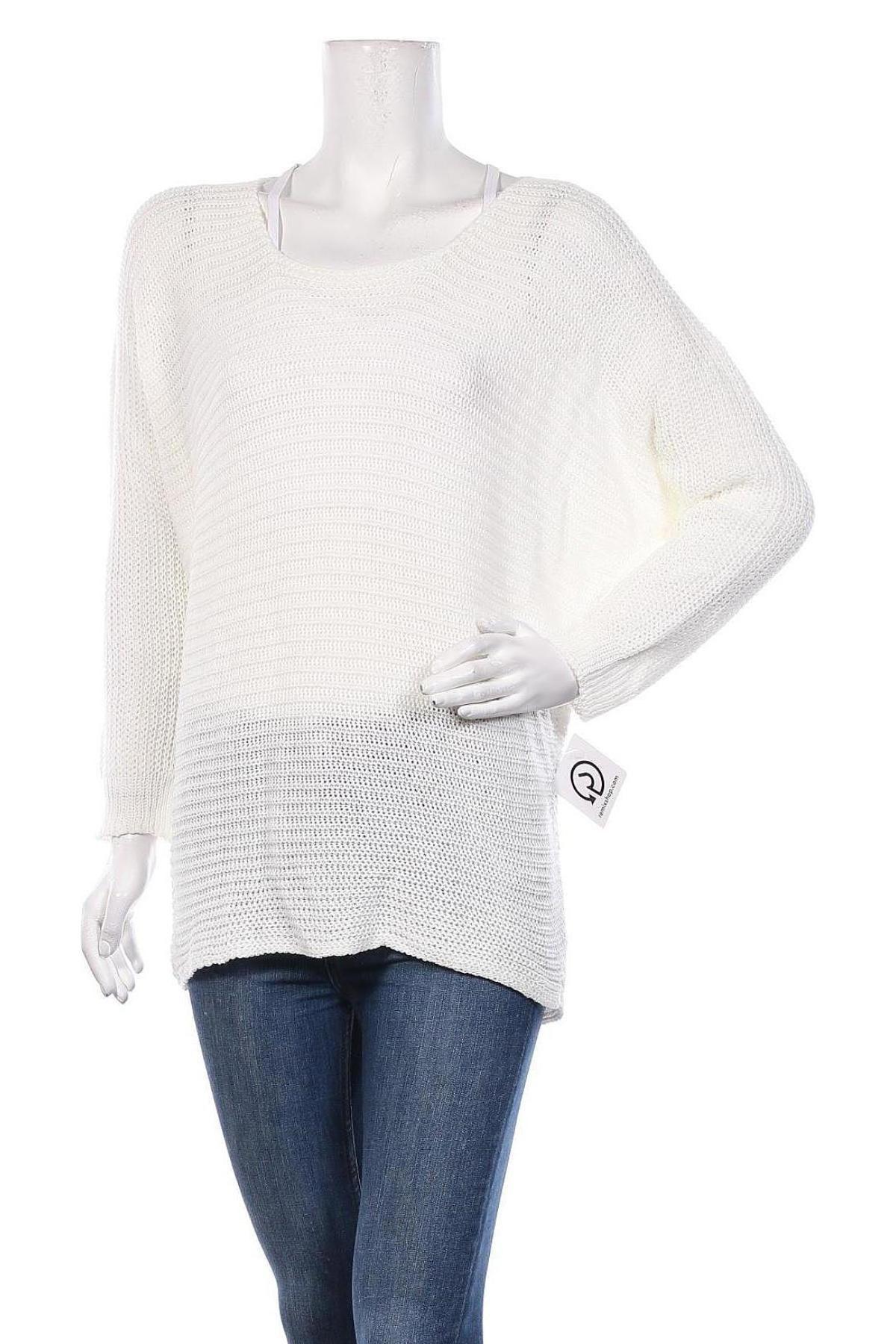 Дамски пуловер, Размер S, Цвят Бял, Акрил, Цена 42,00лв.