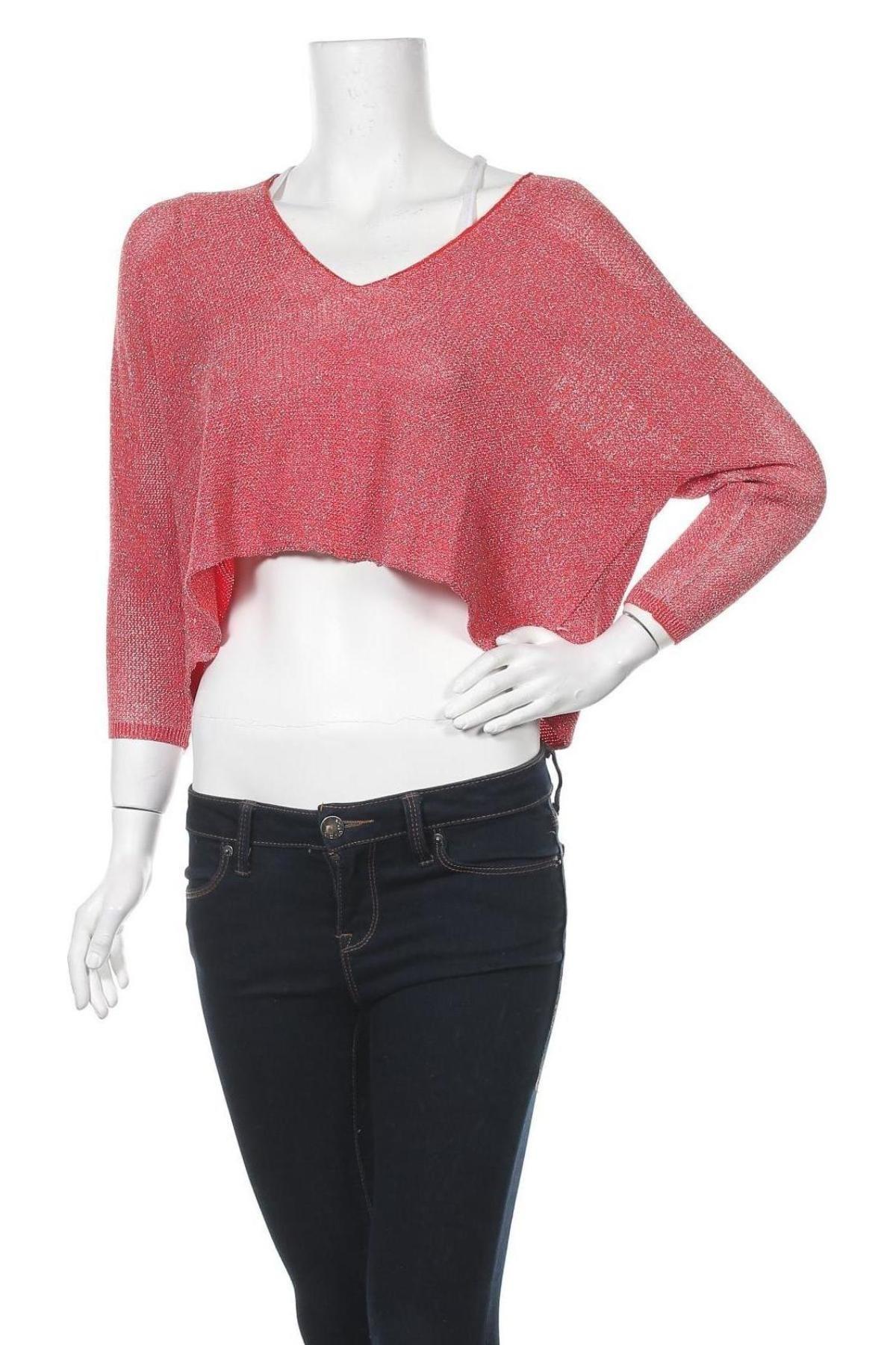 Дамски пуловер La Fee Maraboutee, Размер S, Цвят Червен, 79% вискоза, 21% полиамид, Цена 13,08лв.