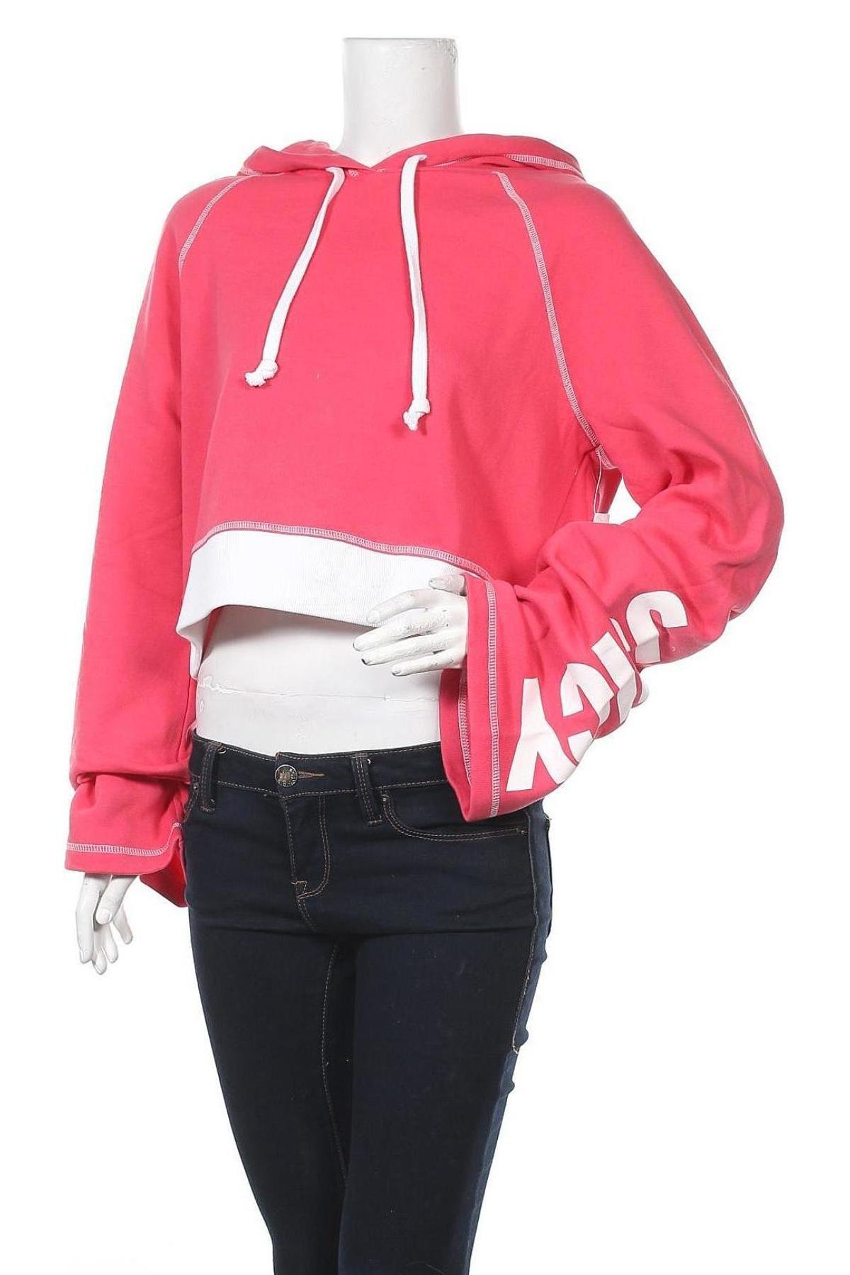 Дамски суичър Juicy Couture, Размер M, Цвят Розов, 60% памук, 40% полиестер, Цена 21,56лв.