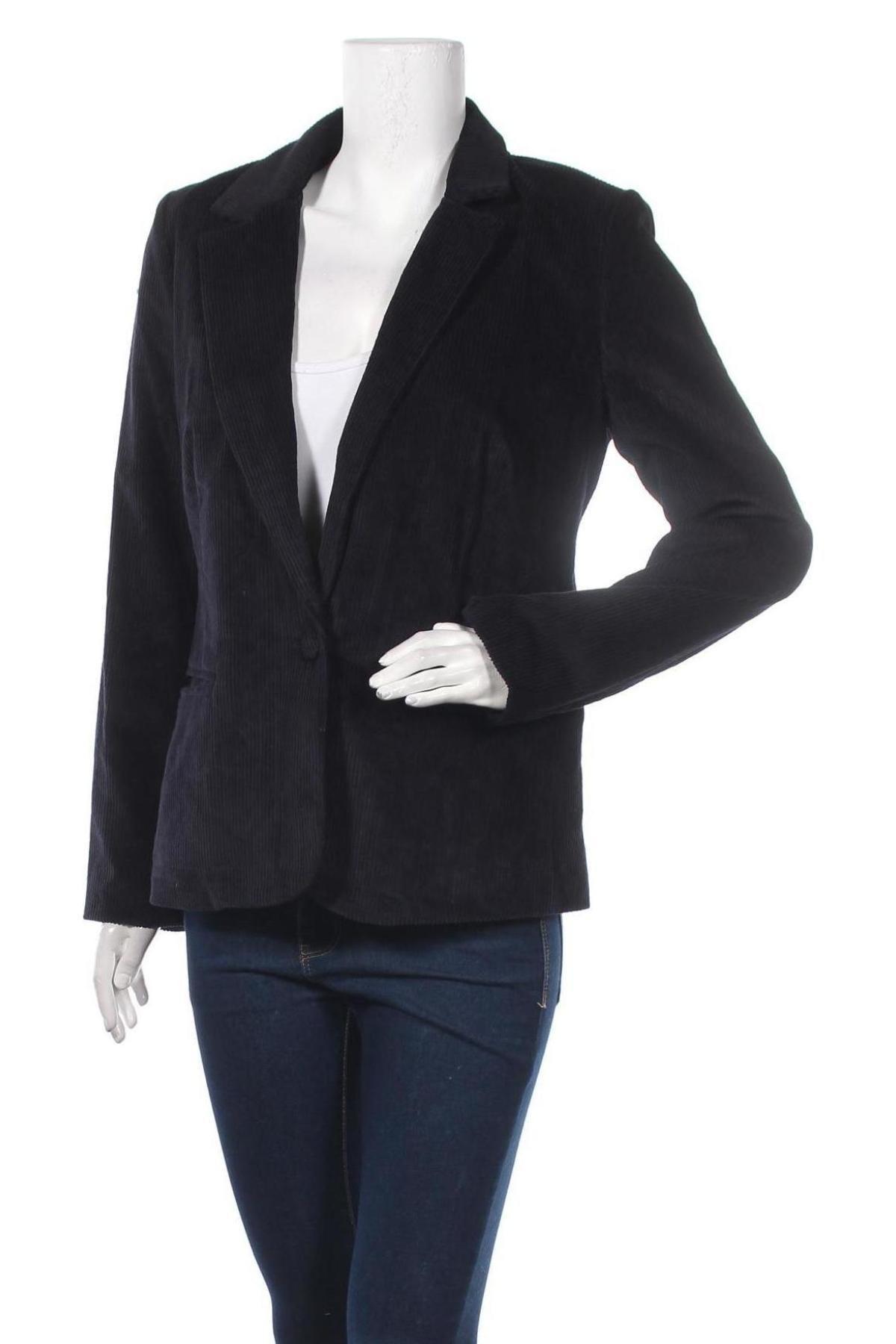Дамско сако Mauvette, Размер L, Цвят Син, 87% памук, 10% вискоза, 3% лиосел, Цена 20,70лв.