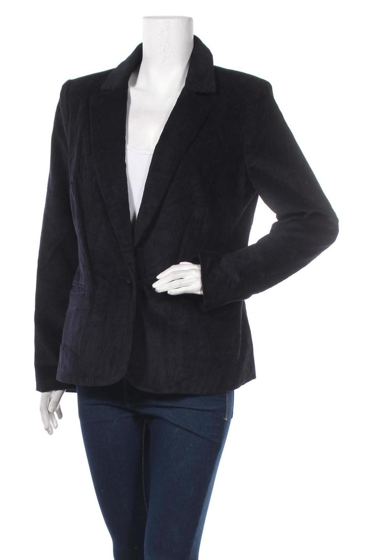 Дамско сако Mauvette, Размер XL, Цвят Син, 87% памук, 10% вискоза, 3% лиосел, Цена 15,87лв.