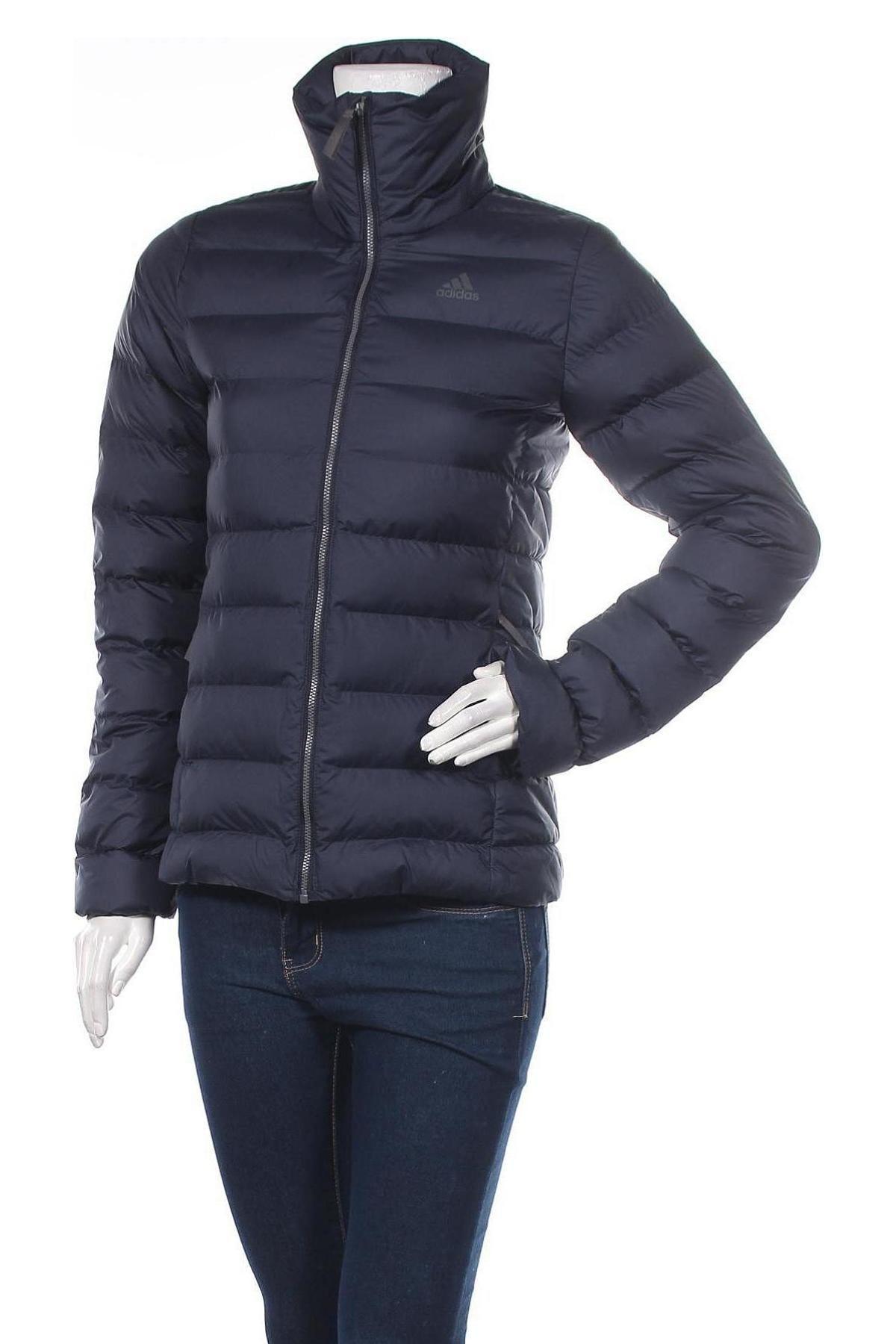 Γυναικείο μπουφάν Adidas, Μέγεθος XS, Χρώμα Μπλέ, Πολυεστέρας, Τιμή 65,33€