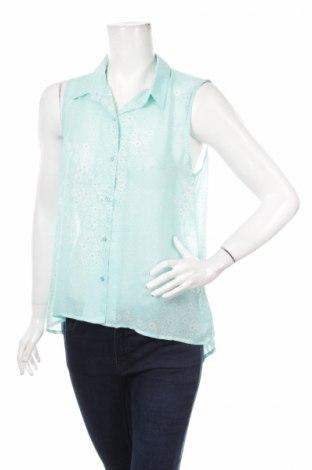 Γυναικείο πουκάμισο Gate Woman, Μέγεθος L, Χρώμα Μπλέ, 100% πολυεστέρας, Τιμή 11,86€