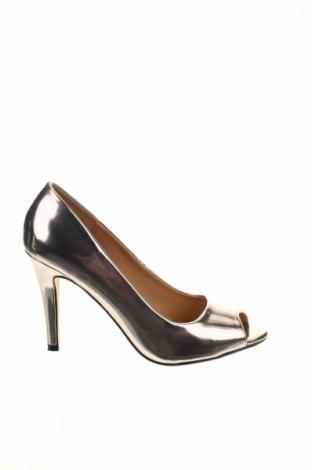 Γυναικεία παπούτσια Buffalo, Μέγεθος 38, Χρώμα Ασημί, Δερματίνη, Τιμή 24,12€