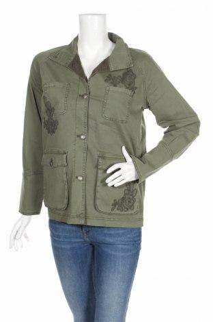 Дамско яке S.Oliver, Размер S, Цвят Зелен, 98% памук, 2% еластан, Цена 20,85лв.