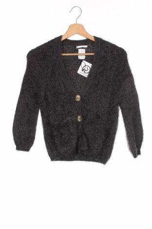 Детска жилетка Zara Kids, Размер 8-9y/ 134-140 см, Цвят Сив, 66% памук, 34% акрил, Цена 10,35лв.