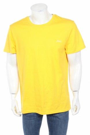 Мъжка тениска Mr. F, Размер XL, Цвят Жълт, Памук, Цена 16,96лв.