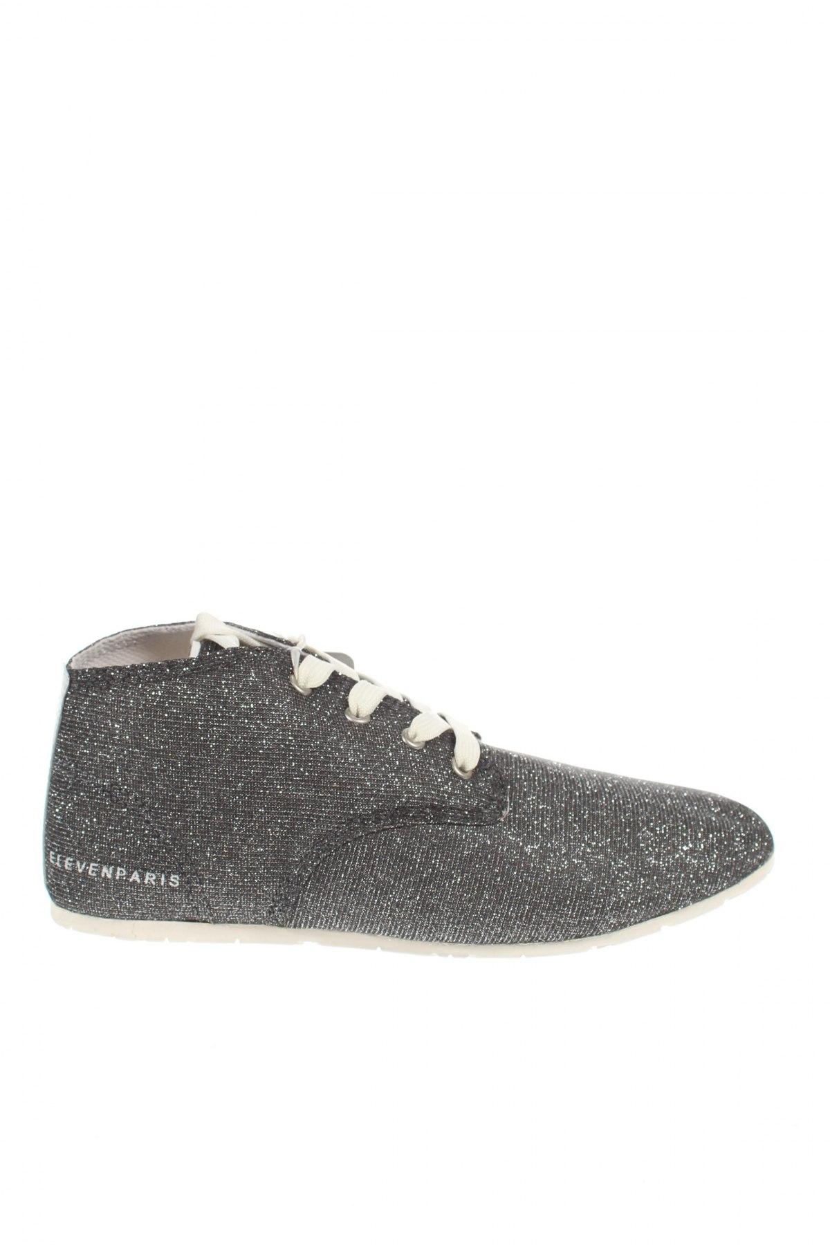 Дамски обувки Eleven Paris, Размер 38, Цвят Сив, Текстил, Цена 89,25лв.
