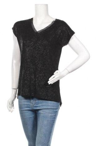 Дамска блуза Camaieu, Размер S, Цвят Черен, 96% вискоза, 4% еластан, Цена 25,35лв.