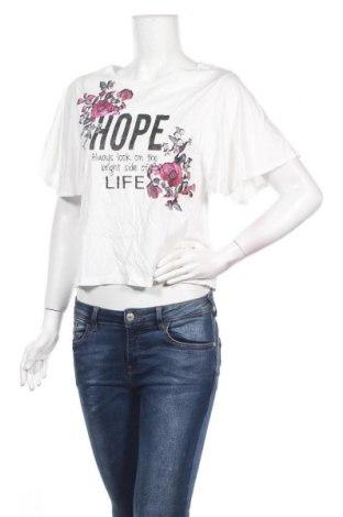 Дамска блуза Camaieu, Размер S, Цвят Бял, 51% памук, 49% модал, Цена 25,35лв.