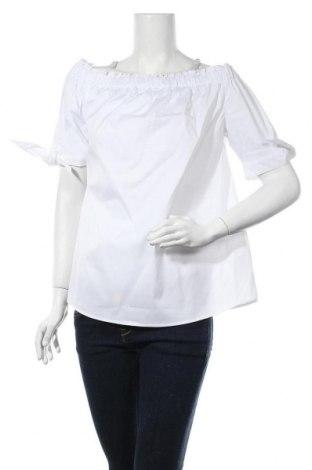 Дамска блуза Daniel Hechter, Размер XS, Цвят Бял, 75% памук, 20% полиамид, 5% еластан, Цена 48,30лв.