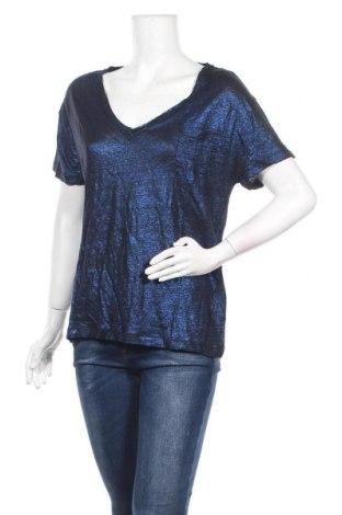Дамска блуза Eleven Paris, Размер L, Цвят Син, Лен, Цена 24,15лв.