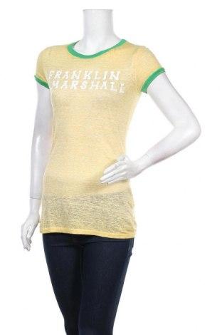 Дамска блуза Franklin & Marshall, Размер S, Цвят Жълт, Лен, Цена 28,80лв.
