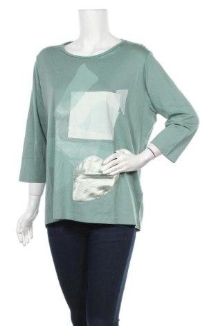 Γυναικεία μπλούζα Mark Adam, Μέγεθος XXL, Χρώμα Πράσινο, 50% βαμβάκι, 50% βισκόζη, Τιμή 11,11€