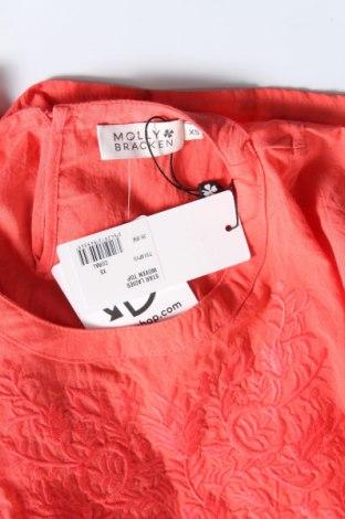 Γυναικεία μπλούζα Molly Bracken, Μέγεθος XS, Χρώμα Πορτοκαλί, Βαμβάκι, Τιμή 17,53€