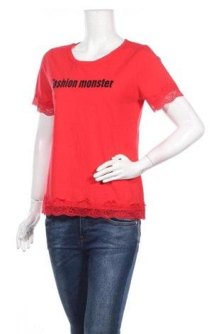 Γυναικεία μπλούζα Molly Bracken, Μέγεθος M, Χρώμα Κόκκινο, Βαμβάκι, ελαστάνη, πολυαμίδη, Τιμή 17,53€