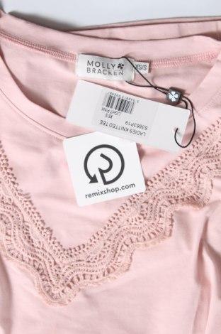 Γυναικεία μπλούζα Molly Bracken, Μέγεθος S, Χρώμα Ρόζ , 95% βαμβάκι, 5% ελαστάνη, Τιμή 25,26€