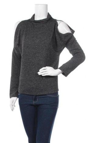 Дамска блуза New Laviva, Размер M, Цвят Сив, 95% полиестер, 5% еластан, Цена 11,27лв.