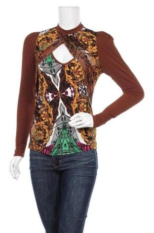 Дамска блуза Orna Farho, Размер M, Цвят Кафяв, 97% полиестер, 3% еластан, Цена 31,00лв.