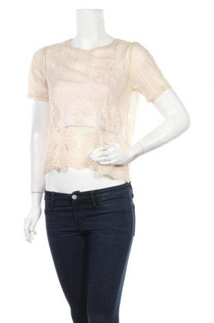 Γυναικεία μπλούζα Pieces, Μέγεθος M, Χρώμα  Μπέζ, Πολυεστέρας, Τιμή 3,02€
