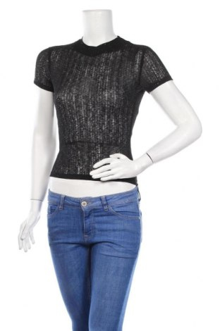 Дамска блуза Sinsay, Размер M, Цвят Черен, Полиестер, Цена 7,00лв.