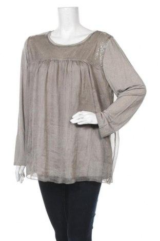 Γυναικεία μπλούζα Via Appia, Μέγεθος XXL, Χρώμα  Μπέζ, Βισκόζη, ελαστάνη, πολυεστέρας, Τιμή 22,40€
