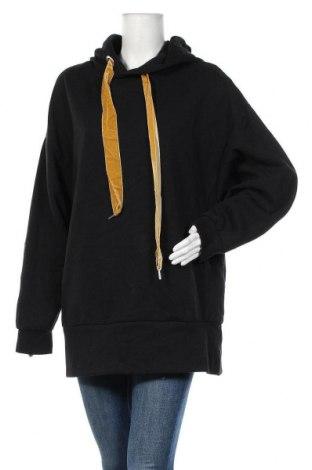 Дамска блуза Zara Trafaluc, Размер L, Цвят Черен, 53% полиестер, 47% памук, Цена 36,60лв.