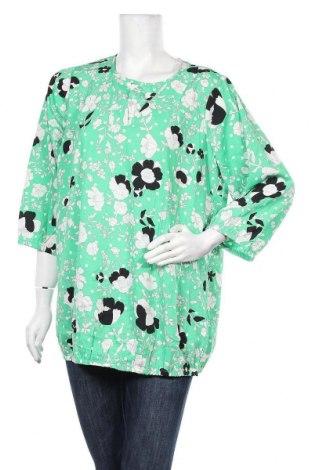 Дамска блуза Zhenzi, Размер S, Цвят Зелен, Полиестер, Цена 4,64лв.
