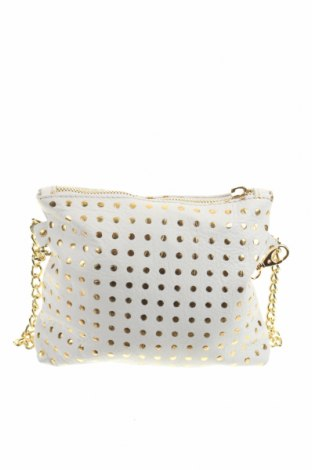 Дамска чанта, Цвят Бял, Естествена кожа, Цена 52,80лв.