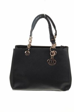 Γυναικεία τσάντα Manoukian, Χρώμα Μαύρο, Δερματίνη, Τιμή 88,53€