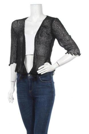 Дамска жилетка Coton Du Monde, Размер S, Цвят Черен, 71% акрил, 29% полиамид, Цена 12,00лв.