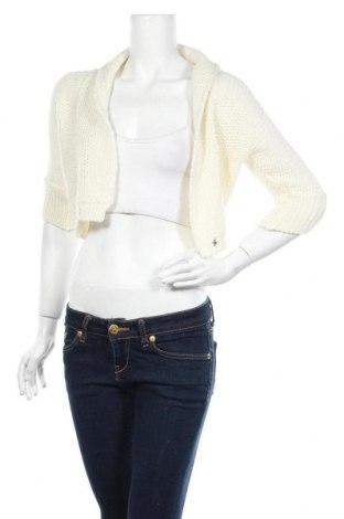Дамска жилетка La Mode Est A Vous, Размер L, Цвят Бял, 80% акрил, 15% вълна, 5% други материали, Цена 11,96лв.