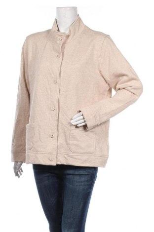 Дамска жилетка Laura Scott, Размер XL, Цвят Бежов, 78% памук, 22% полиестер, Цена 17,64лв.