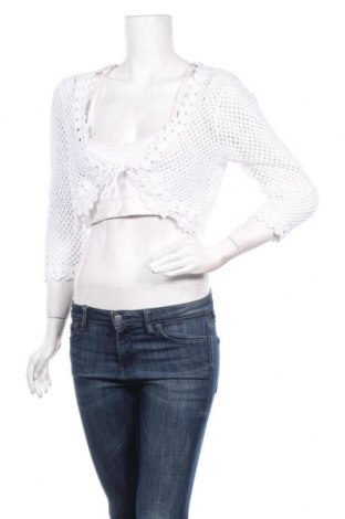 Γυναικεία ζακέτα Soya Concept, Μέγεθος M, Χρώμα Λευκό, Βαμβάκι, Τιμή 4,32€