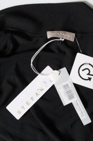 Дамска жилетка Stefanel, Размер L, Цвят Черен, 83% вискоза, 17% полиамид, Цена 19,80лв.