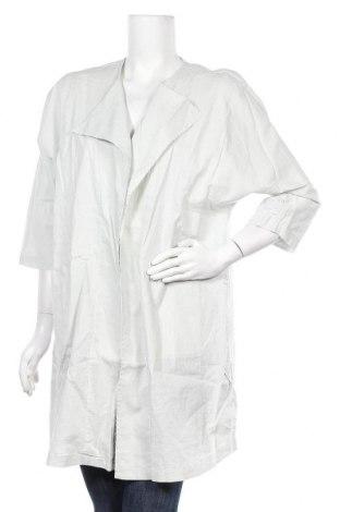 Дамска жилетка Yaya, Размер M, Цвят Сив, 52% лен, 48% памук, Цена 25,68лв.