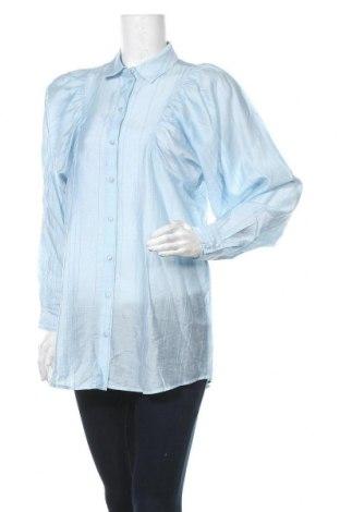 Дамска риза Aware by Vero Moda, Размер S, Цвят Син, 75% лиосел, 25% полиамид, Цена 40,50лв.