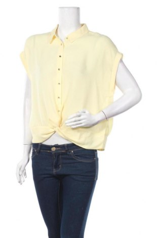 Γυναικείο πουκάμισο Camaieu, Μέγεθος L, Χρώμα Κίτρινο, Πολυεστέρας, Τιμή 20,15€