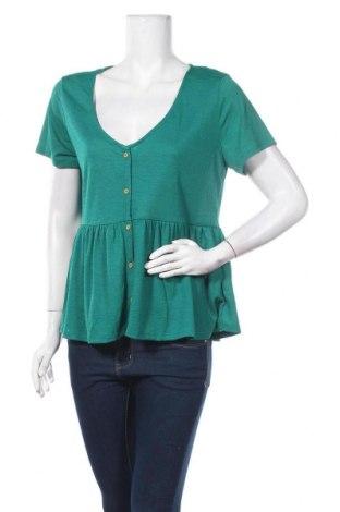 Дамска риза Camaieu, Размер L, Цвят Зелен, 98% полиестер, 2% еластан, Цена 29,90лв.
