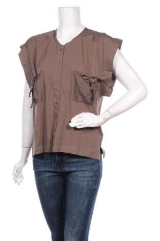 Дамска риза French Connection, Размер S, Цвят Кафяв, Памук, Цена 44,50лв.