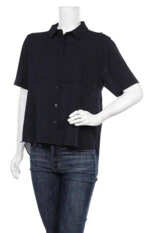 Γυναικείο πουκάμισο French Connection, Μέγεθος M, Χρώμα Μπλέ, Πολυεστέρας, Τιμή 9,60€